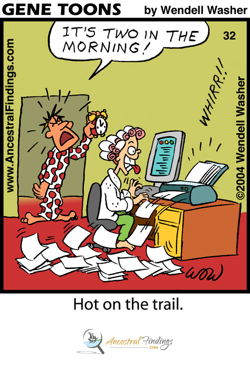 hot on the trail     genetoons  32